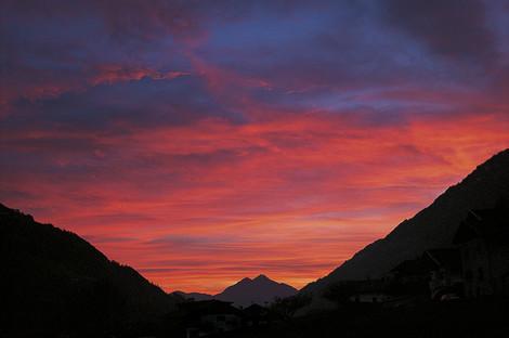 Sonnenuntergang Passeiertal